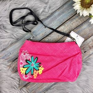 Thirty One Skirt Pink Floral Purse NWT